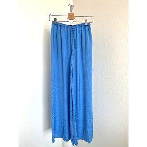 Zara Light Blue Silky Palazzo Pants